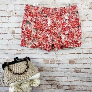 NWT Ann Taylor LOFT Size 2 Tropical Floral Shorts